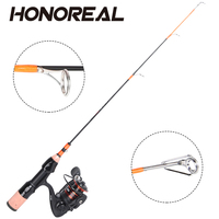 HONOREAL Klash Light Portable Travel Ice Spinning Fishing Rod Reel Combo 8+1 BB Stainless Steel High Quality Carbon Body Reel