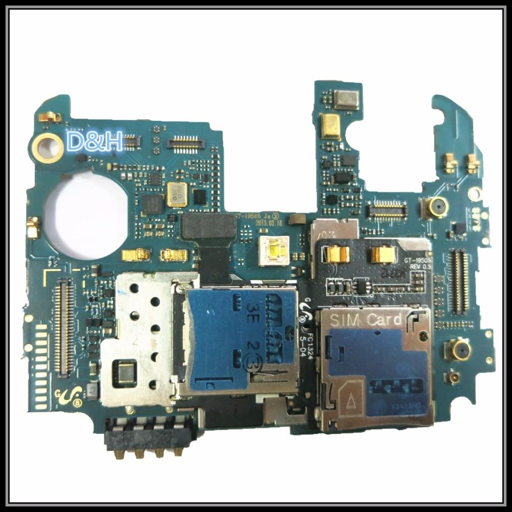 Full Working Original Unlocked For Samsung Galaxy S4 i9505 Main Board MCU Motherboard Logic Mother Board Lovain MB Plate working mother