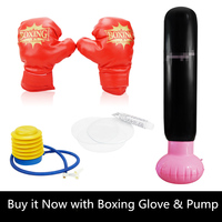 Thicken Inflatable Boxing Tower With Pump Punching Bag Speed Balls Training Home Outdoor Fitness Body Building