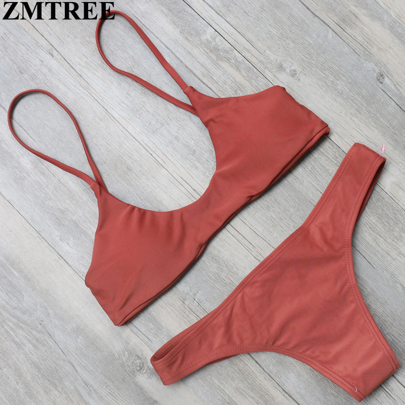 ZMTREE New Hot Bikini Women Bikini Set Bottom Back Lace Up Swimsuit Bandage Swimwear Beach Bathing Suit Brazilian Biquini 2017 hwsexy women s back tie mesh bikini set swimwear bra bottom beach swimsuit moda praia feminina brazilian biquini new brand