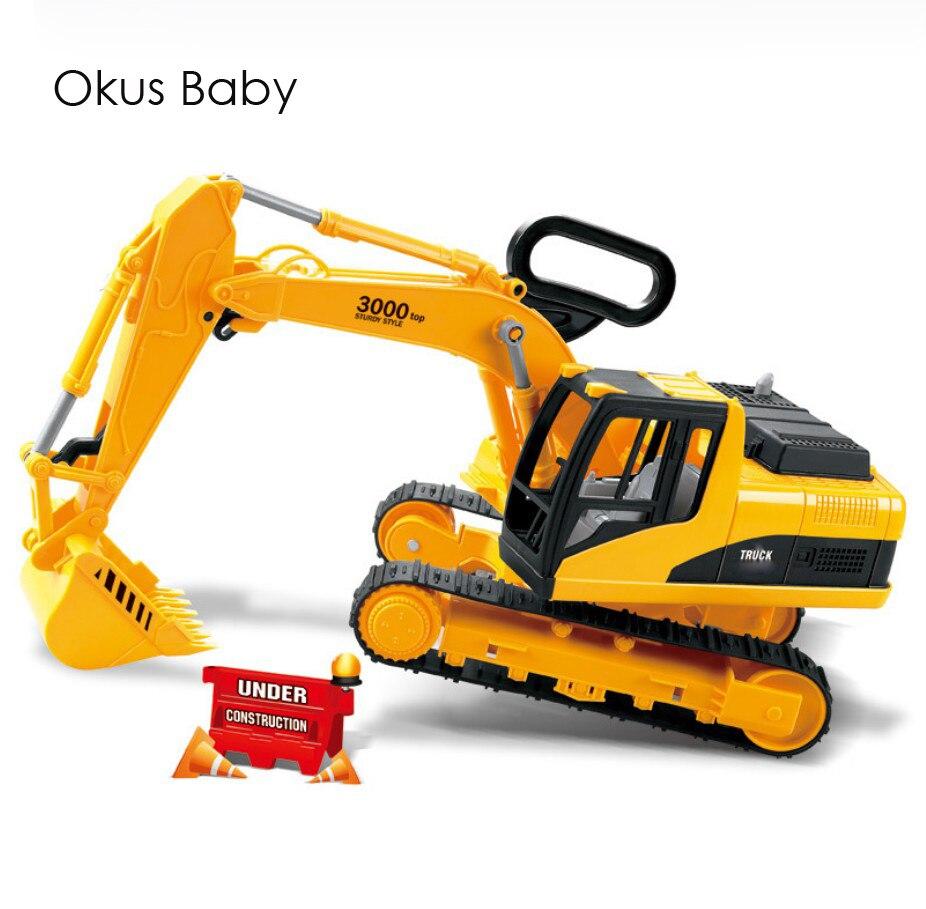 Grande taille Enfants Emulational Pelle Camion Mobile jouet voiture Machines Tablier Roue Camion Pour Les Enfants cadeau de noël Avec la Boîte