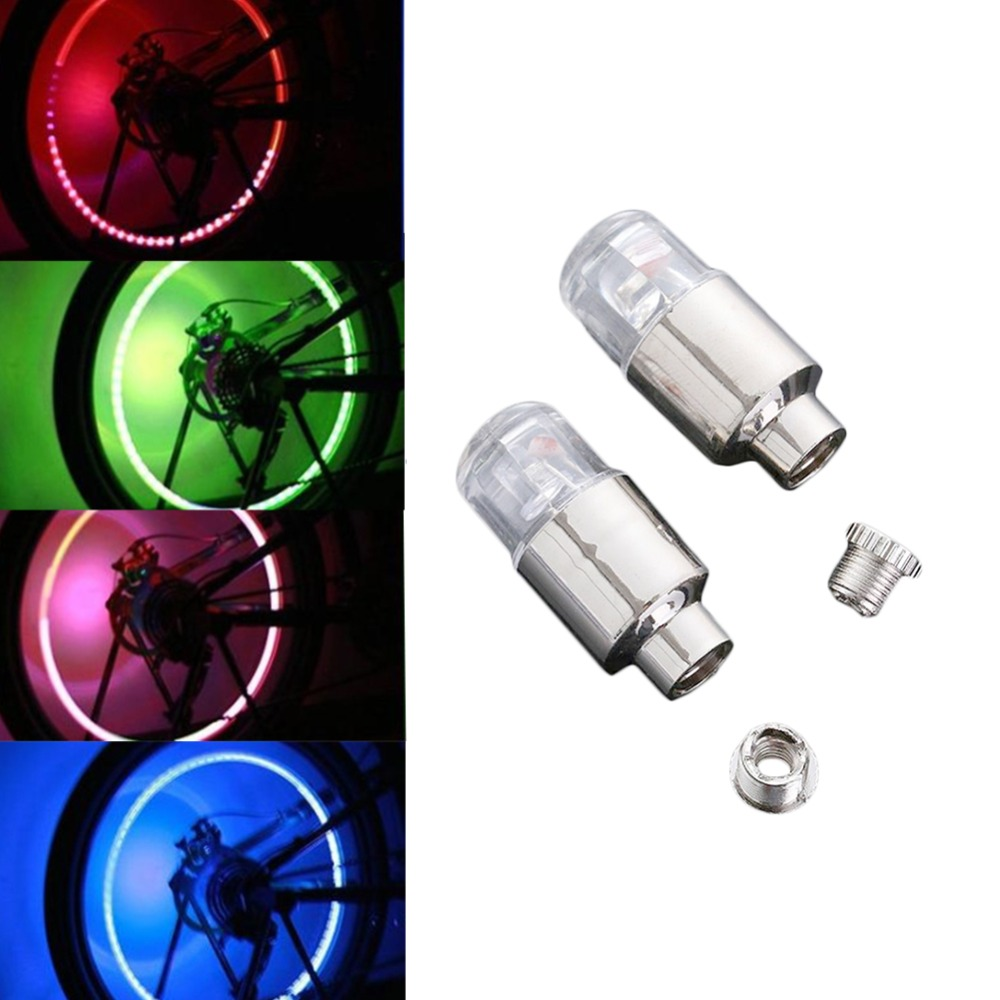 2019 New Arroval Auto Accessories Bike Supplies Neon Blue Strobe Led Tire Valve Caps Lights With Motion Sensors High Quality Materials Electric Vehicle Parts Accessories