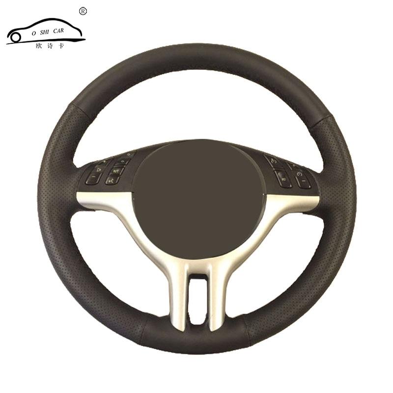 Car Steering Wheel Braid For BMW E39 E46 325i E53 X5/Custom Made Dedicated Artificial Leather Auto Steering-Wheel Cover