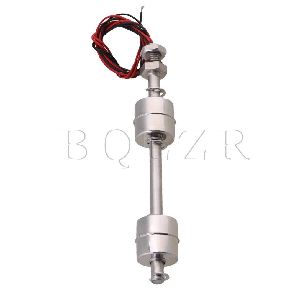 цена на BQLZR 150mm Silver AC110V Stainless Steel Tank Water Liquid Pool Level Sensor Vertical Float Switch Double Ball