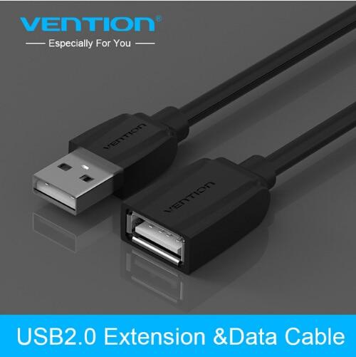 Vention-Cable USB 2,0 extensor de extensión macho a hembra, Cables de datos USB para teclado de PC, impresora, cámara y ratón