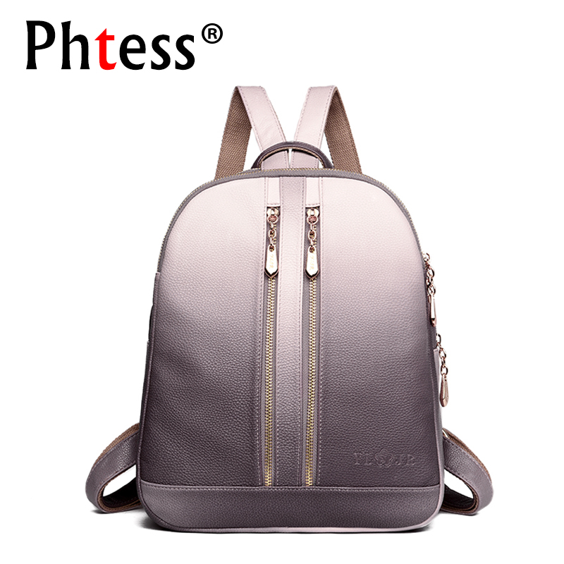 2018 Women Leather Backpacks For Girls Sac a Dos School Backpack Female Travel Shoulder Bagpack Ladies Casual Daypacks Mochilas backpack mogenuine leather backpacks chila feminina mochilas school bags women bag travel bagpack mochilas mujer 2018 sac a dos