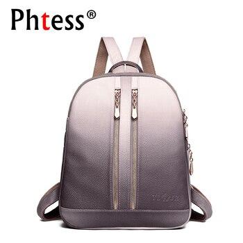 4d2a7a56ddf1 2019 для женщин кожа рюкзаки для обувь девочек Sac Dos школьный рюкзак для  девочки Путешествия сумка через плечо дамы повседневное Daypacks Mochilas