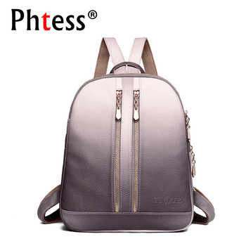 2019 Women Leather Backpacks For Girls Sac a Dos School Backpack Female Travel Shoulder Bagpack Ladies Casual Daypacks Mochilas - DISCOUNT ITEM  38% OFF All Category