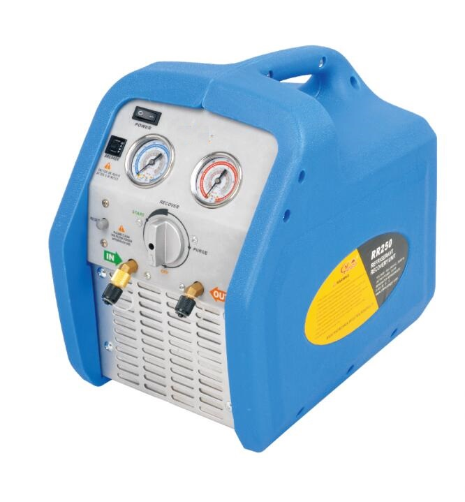 Free shipping 1HP or 3/4HP Oilless Piston Type 220V or 110V Portable Refrigerant Recovery Machine portable refrigerant recovery unit suitable for commerce refrigerated cabinet