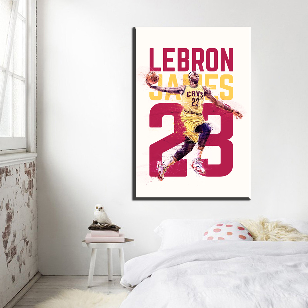 24x36 poster design - Xdr247 Basketball Star Lebron James Art Canvas Poster Print Sports Pictures Wall Decor 12x18 16x24 20x30 24x36 Inch Free Shippin