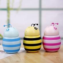 New Car Bee humidifier Mini Ultrasonic Humidifiers Led Night Light USB Essential Oil Aroma Diffuser Fogger Air freshener