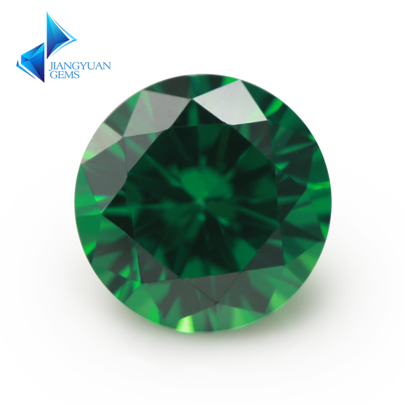 3.0~10mm 5A Round Cut CZ Stone Brilliant Light Green Cubic Zirconia Synthetic Gems stone