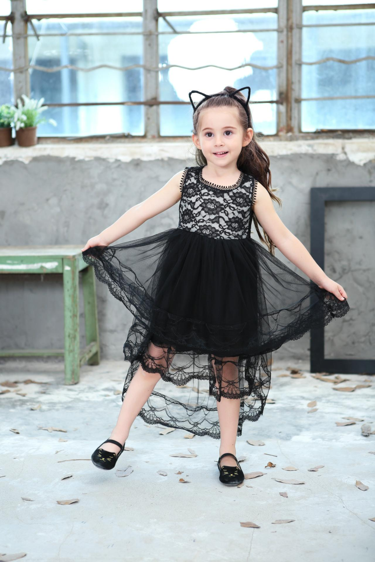 2018 New Summer Girls Ball Gown Dresses Mesh Girls Clothes Princess Wedding Party Dress Pageant Children Clothes 4