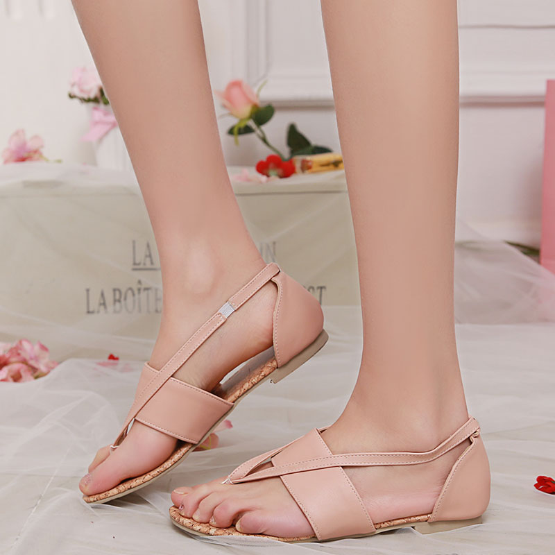 a88863bf3b Fashion Element: Narrow Band Occasion: Casual Heel Height: Flat (≤1cm)  Upper Material: Microfiber Sandal Type: Gladiator Back Counter Type: Cover  Heel