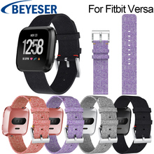 New Arrival For Fitbit Versa Wristband Wrist Strap Smart Watch Band Soft Denim Replacement Watchband