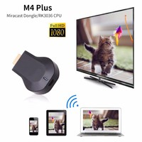 AnyCast M4 Plus Wireless WiFi Dongle Receiver 1080P Display HDMI Media Video Streamer Switch Free TV