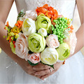 New Arrival 2017 Magical Colorful Beautiful Bridal Bridesmaid Flower wedding bouquet artificial flower rose bridal bouquets