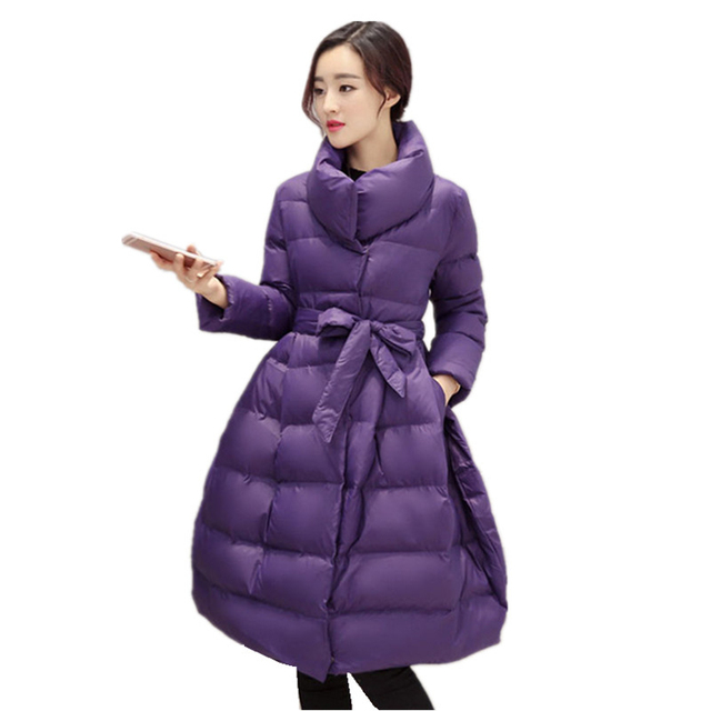 manteau femme 2016 New Women Winter Coat and Jacket Fashion Long Women Wadded Jacket Thick Warm Female Outerwear Plus Size W032