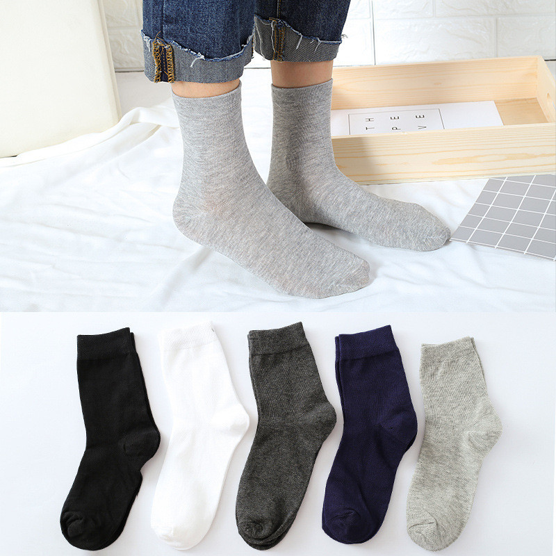Funky Socks 1Pair Mens Non Elastic 100% Pure Cotton Socks Comfort Soft Grip Diabetic Anti Sweat And Anti Skid Socks M#7