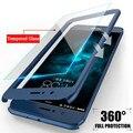Funda completa de 360 grados para Huawei P Smart P20 P10 P9 Lite Nova 2 2i Plus Honor 6x7x8 9 9i V9 10 PC duro con cristal