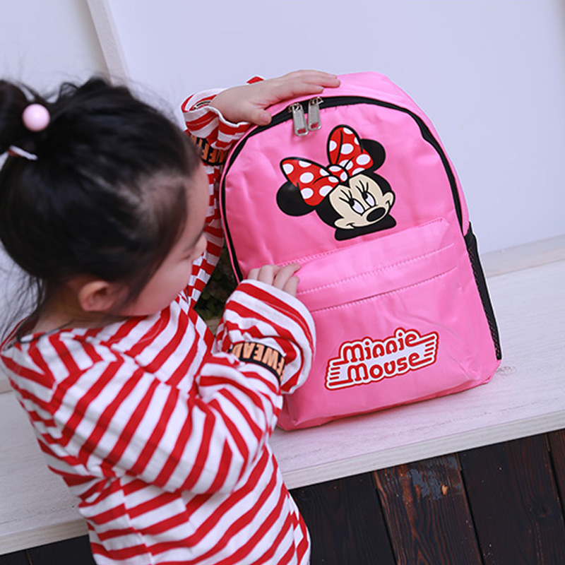 Disney Kids Backpack 6 Stylish Children Schoolbag Mickey Minnie Mouse Shoulder Bag Girls Boys Cute Cartoon Stitch Mcqueen Frozen Low Price Toys & Hobbies