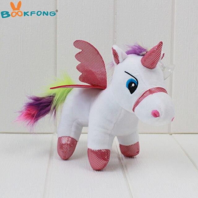 20cm 1pc Lovely Cartoon Pony Unicorn Plush toy Soft Stuffed Animal Unicorn Horse Toy Baby Dolls Kids Toys Girl Birthday Gift