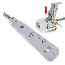 Ethernet сети патч панель Лицевая панель удар вниз инструмент RJ11 RJ45 Cat5 с датчиком Прямая поставка