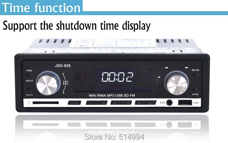 2014 New!car radio mp3 player,Support folder play,USB SD AUX IN WAV WMA, 12V 1 din car audio,car stereo mp3 free shipping