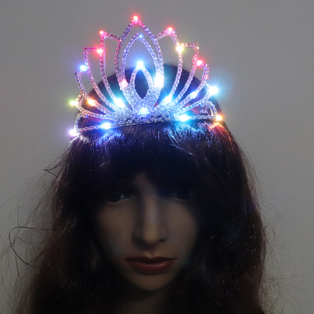 Danse de salon led costumes lumineux couronne mariage fête scène costumes chanteur dj led chapeaux saint valentin fille cadeau