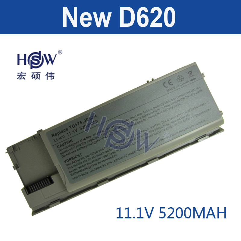 HSW 5200MAH Laptop Battery For Dell Latitude D620 D630 Precision M2300 312-0383 312-0386 451-10297 451-10298 JD634 PC764 TC030 golooloo battery for dell inspiron 1525 1526 1545 1546 312 0626 312 0634 312 0633 312 0763 312 0844 451 10534 c601h cr693