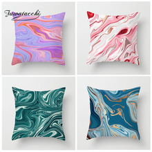 Fuwatacchi Watercolor Painting Cushion Cover River Oil Painting Pillow Cover For Decor Home Sofa Chair Decorative Pillowcase