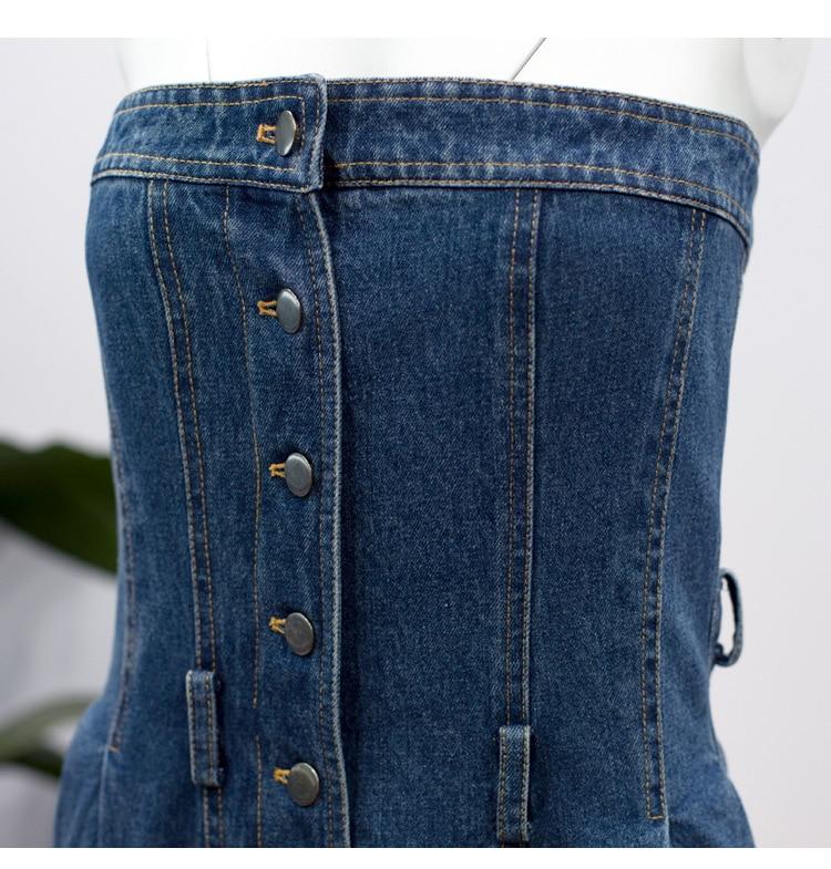 Mujeres Summre Blue Preventa Casual Cintura custom Q149 Overoles Alta Todo Moda Nueva Oloey Denim Del Suelto Personalidad fósforo Botón 2019 De Cremallera fFxOdqp
