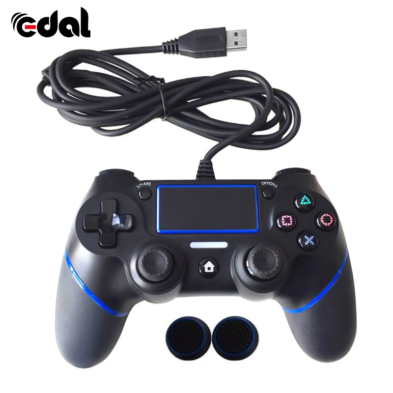New Wired Game Handle For PS4 Controller For Playstation 4 Gamepads Multiple Vibration Used For PS4