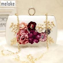 2017 magas minőségű luxus kézzel készített virágok esti táskák márkájú vacsora kuplung pénztárca lánc virág díszdobozok MN258