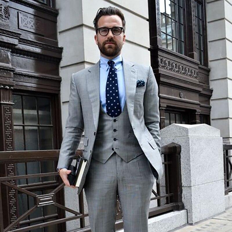 Костюм на заказ Для мужчин Жених Смокинги друзей жениха костюм мужские костюмы Slim Fit для шафера блейзер с брюками и жилет