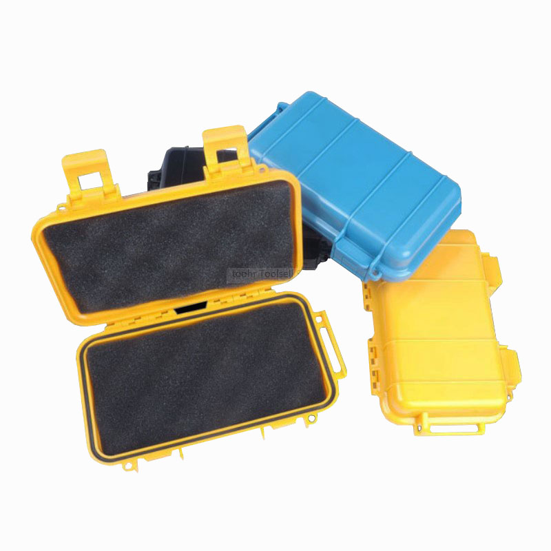 Toolbox Moistureproof Waterproof Plastic Tool Case Box Shockproof Airtight Container Storage Box Resistant Fall Safety Case