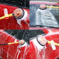 Car Styling New Car Coat Auto Paint Care Portable Automatic Rotary Wash Brush Cleaning Foam Adjustable Cleaning Tool p# dropship
