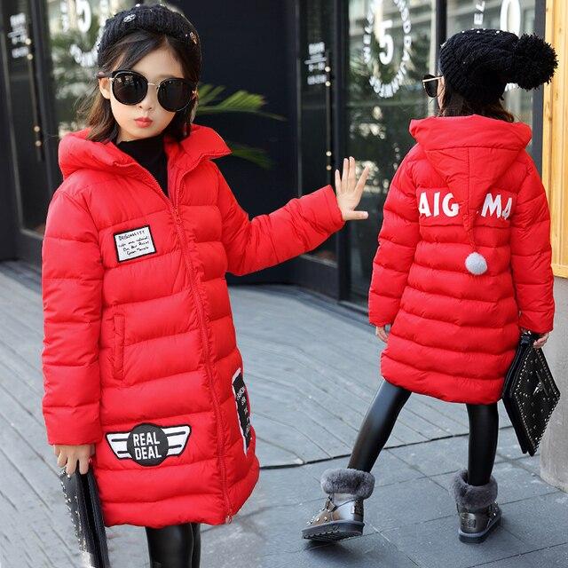 d81ad396 2018 spring Winter jacket for girls clothes Cotton Padded Hooded Kids Coat  Children clothing girl Parkas enfant Jackets & Coats