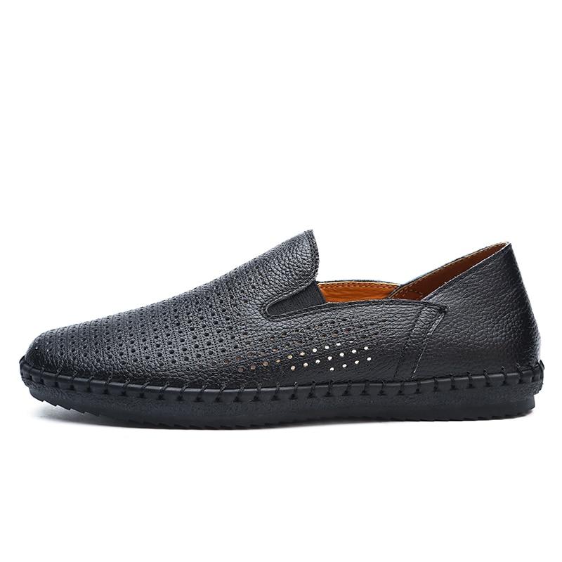 Suvine stantsimine Ehted nahast kingad mehed Käsitsi valmistatud - Meeste jalatsid - Foto 2
