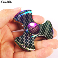 Heavy Metal Colorful Fidget Finger Spinner Hand Spinner Gyro EDC ADHD Rotation Time Long Anti Stress