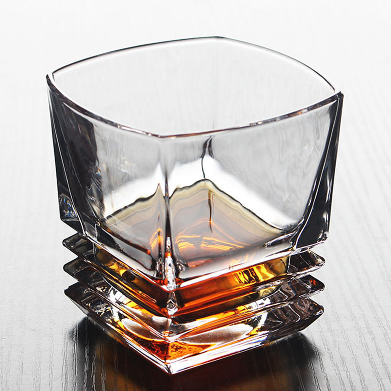 Image 2 - Brand Wine Glass Lead free Heat Resistant Transparent Crystal Beer Whiskey Brandy Vodka Cup Multi Pattern Drinkware Bar GiftsTransparent   -