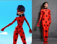 High Quality Custom Made Miraculous Ladybug Cosplay Costume Marinette Cosplay Costume Ladybug Spandex Suit