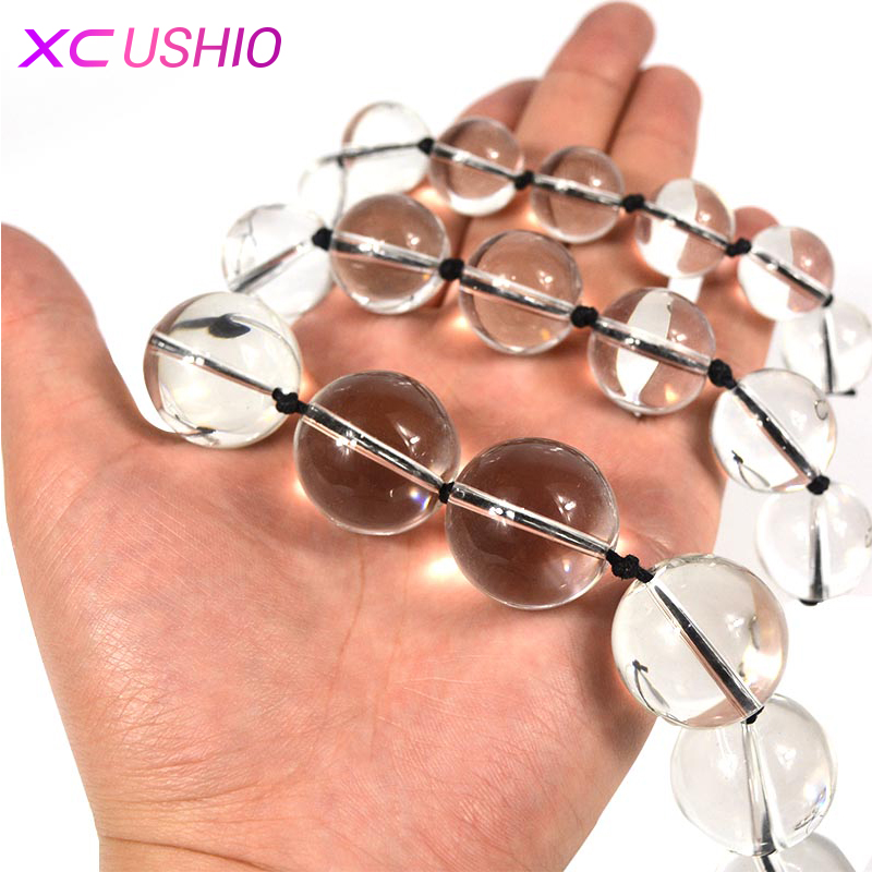 3sizes/lot Glass Anal Beads Plug Crystal Vaginal Anal Masturbator Balls Butt Plug Anal Sex Toys for Women Gay Adult Sex Products