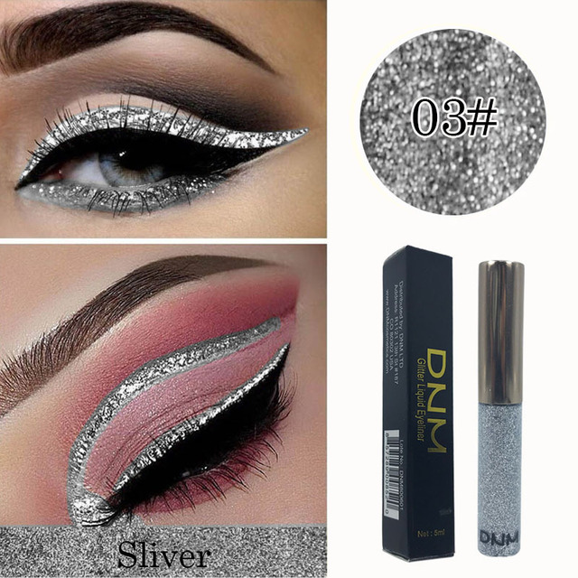 DNM Shimmer Flash Liquid Eyeliner Pencil Makeup Long Lasting Quick Dry Glitter Eye Liner Pen Waterproof Cosmetic Set TSLM1 1