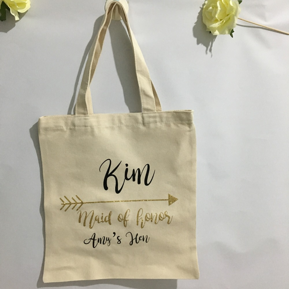 Personalized name bridesmaid tote bags wedding gift Bags ...