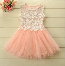 2016 New Hot High Quality Cheap Lovely Kids Child Ball Gown Lace Party Communion Pageant Flower Girl Dresses for Wedding