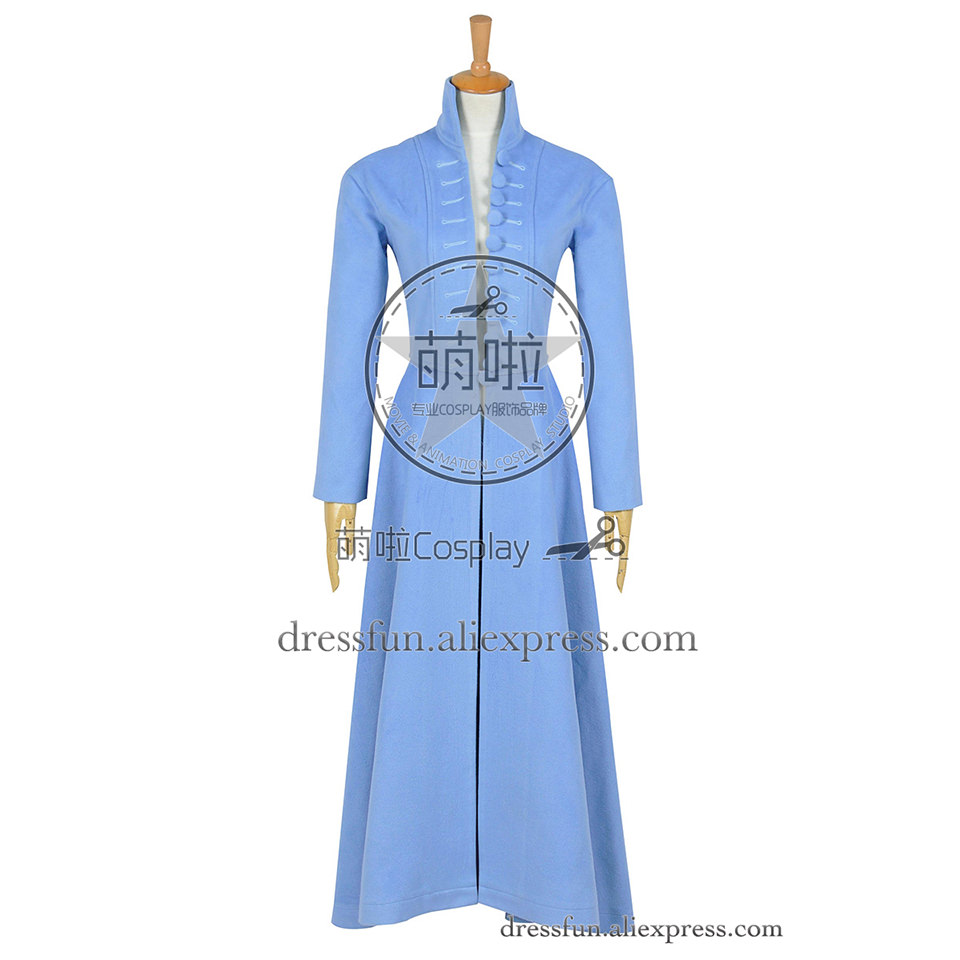 Alice In Wonderland Cosplay Alice Costume Beautiful Blue Trench Coat Halloween Comfortable Clothing Fast Shipping