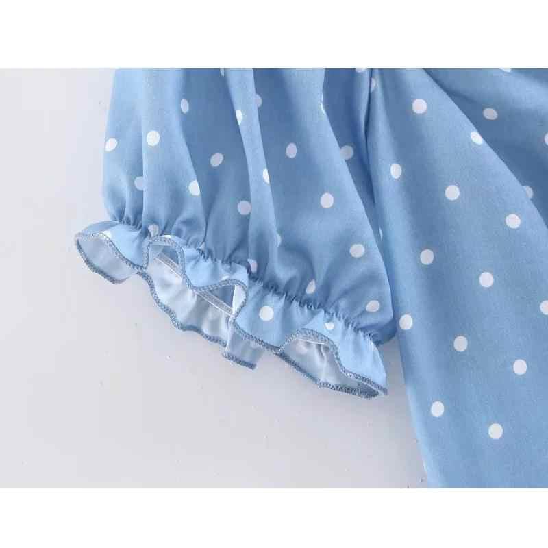 2019 летнее сексуальное платье на шнуровке с бантом, женское пляжное платье в горошек в стиле бохо, повседневное элегантное платье с коротким рукавом в Корейском стиле для вечеринки, мини платье vestidos