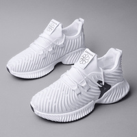 2019 Spring Summer New Women Casual Shoes Breathable Platform Sneakers Tenis Feminino Solid Black White Pink Chunky Shoes Woman