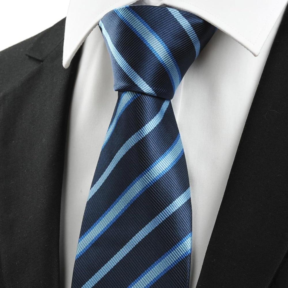 Factory Outlet!mens ties 2013 Dark Blue Stripe Silk ...